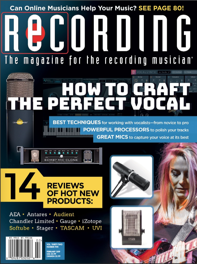 Cass on cover of Recording magazine